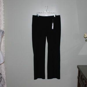 LOft women black Julie Trouser Pant SZ 16T